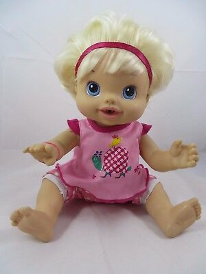 Baby Alive Doll Wet & Wiggles Blonde Talks Giggles Moves Legs 2010 Clothes Works