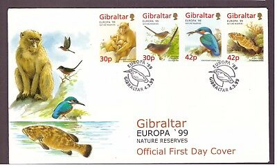 Gibraltar 1999 EUROPA Stamps - Nature Reserves FDC First Day cover
