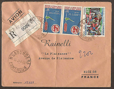 Cameroun. 1972. Registered Air Mail Cover. N'Gaoundere Postmark. Transit & Arriv