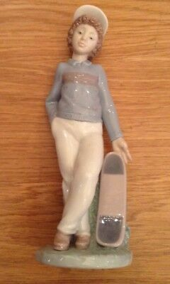 NAO by LLADRO Figurine Boy with a Skateboard 1993