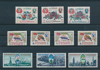 LH21024 Yemen perf/imperf nice lot of good stamps MNH