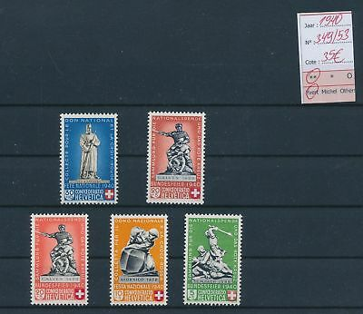 LH21982 Switzerland 1940 sculptures red cross fine lot MNH cv 35 EUR