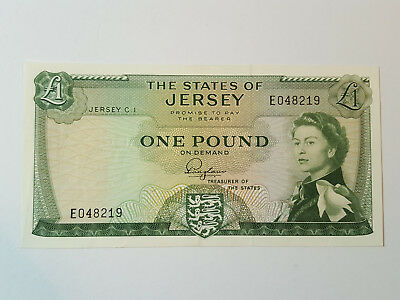 States of Jersey - £1 Banknote - 1963 - FN Padgham - E048219 - P8 Aunc