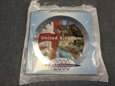 2000 UK Brilliantly Uncirculated Millennium Coin set/Collection sealed TCS371