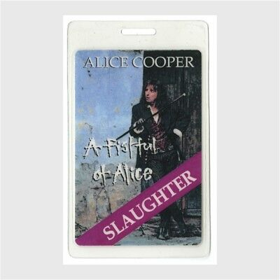 Alice Cooper authentic 1997 Laminated Backstage Pass Fistful Tour Slaughter Otto