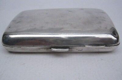Antique Solid Silver Plain Cigarette Case, some dents Birmingham 1923-4 63.0g