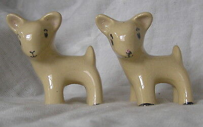 Lovely Pair Of Denby Style Lambs