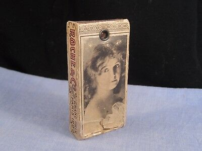 French Antique Go To Bed Vesta Case Bougie Match Candle Box Roche Matchbox
