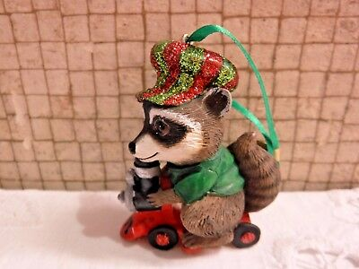 Danbury Mint RACCOON Baby Animals Christmas Ornament with Tag