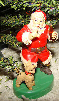 Shhhh (Coca-Cola Series by Heirloom Tradition, H2806) 1986 (Santa, Dog)