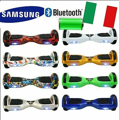 Hoverboard 6,5'' Smart Balance Overboard Scooter Bluetooth Led Garanzia 24 Mesi