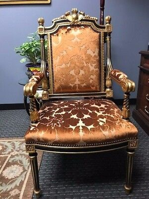 Pair Of Louis Style Gold Giltwood Chairs