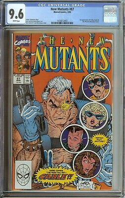 New Mutants #87 Cgc 9.6 White Pages // 1St Appearance Of Cable