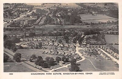 Surrey Esher Kingston-By-Pass Couchmore Farm Estate Houses From Air Aerial Card