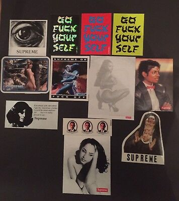 supreme Stickers pack Larry Clark Michael Jackson Sade