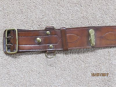 Old Army Leather Belt with brass fittings