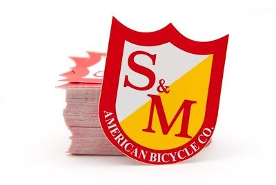 NEW S&M Medium Shield Sticker BMX STICKERS