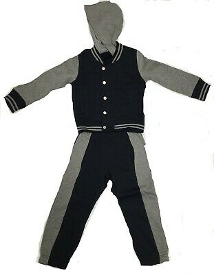 New Babies Kids 2 piece Tracksuit With Stripe Cuff 3 Colours, Black, Navy & Grey