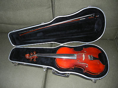 "16"" Viola with Hard Case & Bow Labeled as Jacobus Hand Made - Hornsteiner Repro"