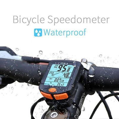 HOT Wireless Bike Cycling Bicycle Cycle #Computer Odometer Speedometer Backlight