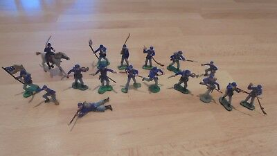 hard plastic painted 30mm acw union infantry 1861-65 by marx