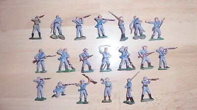 hard plastic painted 30mm acw confederate infantry 1861-65 by marx