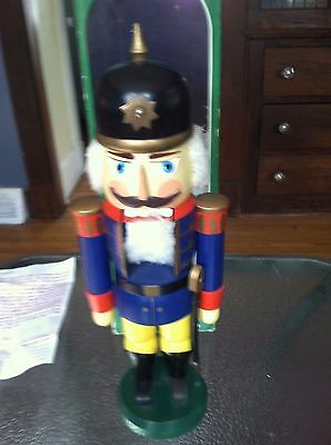 "Vintage German Soldier Guard Nutcracker Erzgebirgische Volkskunst 14"" Germany"