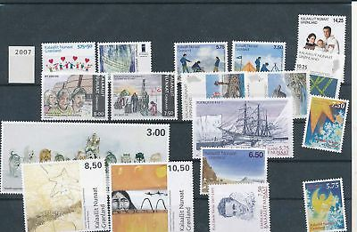 34956/ Grönland ** MNH Lot / Mixture 2007