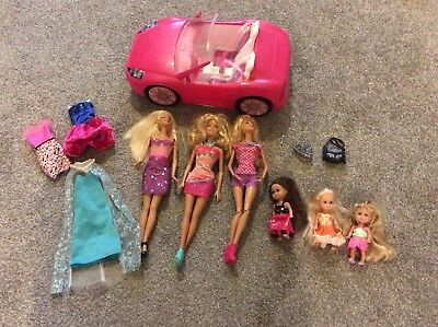 barbie bundle with car and 6 dolls