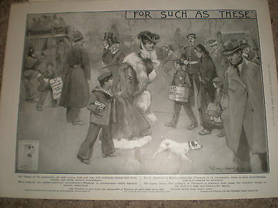 Plasmon cocoa For Such as These art advert by Dudley Hardy 1903