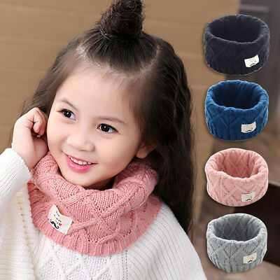 Kid Children Infinity Loop Neckwarmer Scarf Winter Cute Fashion Gift For Kids