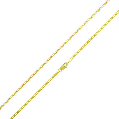 "14k Yellow Gold 1.5 mm Figaro Chain Necklace, 16"" to 20"""