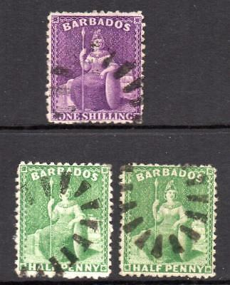 BARBADOS  1875/8  3 V.F.U. No hidden faults Nice Looking stamps See Reverse