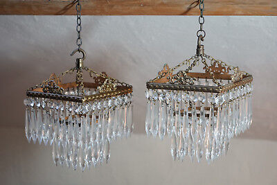 A Pair Of Really Nice Decorative Victorian Antique Chandeliers