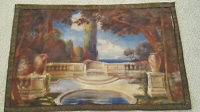 Tapestry 1910 Large French  style of adams or parrish nicely  hand painted