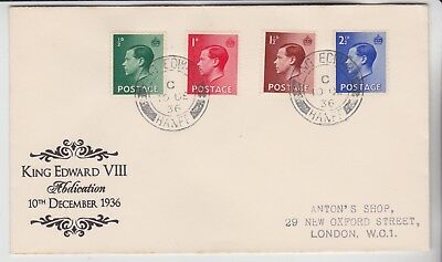 Gb Stamps 1936 King Edward Banff Abdication First Day Cover From Collection