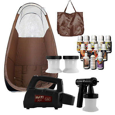 Maximist Lite Plus HVLP Sunless Spraytan kit w Brown Tent,  Tampa Bay Tan Spray