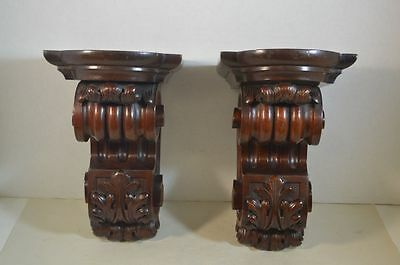 Antique English Carved Wood Brackets