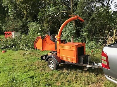 2012 timberwolf tw150 wood chipper tow along no vat