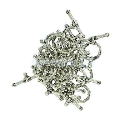 20 Set Tibetan Silver Crafts Wire Wrapped OT Toggle Clasp Jewelry Findings