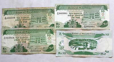 4x10 Rupees, Bank of Mauritius, 1985.