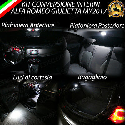 "Kit Led Interni Alfa Giulietta ""My 2017"" Conversione Completa 6000K"
