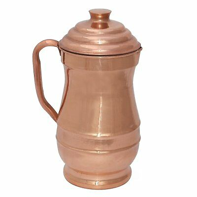 Traditional Ayurvedic Pitcher Copper Jug 2 Litre Water Storage Health Benefits