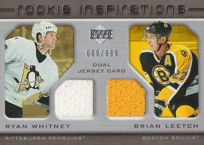 2005-06 Upper Deck Rookie Update #229 Ryan Whitney/Brian Leetch JERSEY 689/999