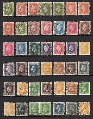NEW ZEALAND 1915-33 Group of 42 V.F.U.  No Hidden Faults  Sound & Collectable !!