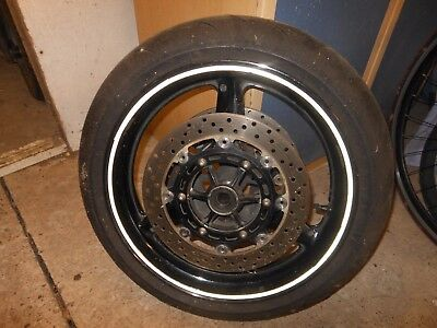 Yamaha R1 Front Wheel, Discs and Tyre