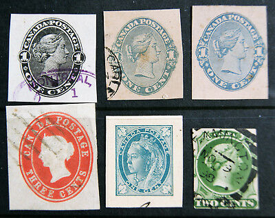 collection of CANADA QUEEN VICTORIA cut outs