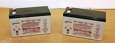 2 X ENERSYS  12V 7AH Stannah Acorn Brooks Bison Minivator STAIRLIFT BATTERIES .