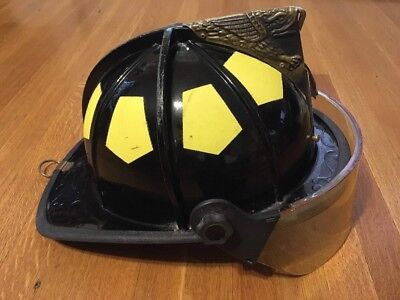 Bullard Hard Boiled Firedome UST Fire Helmet Black with Face Shield