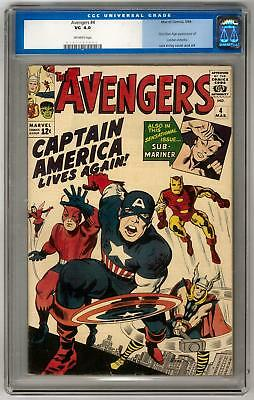 Avengers #4 CGC 4.0 (OW) 1st S/A Captain America (Old Label)
